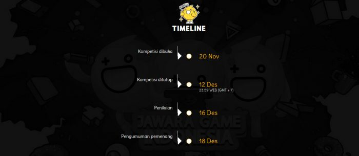 Jawara Game Indonesia Deadline