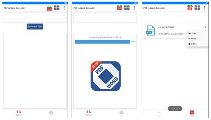 PDF ke Word Konversi Apps