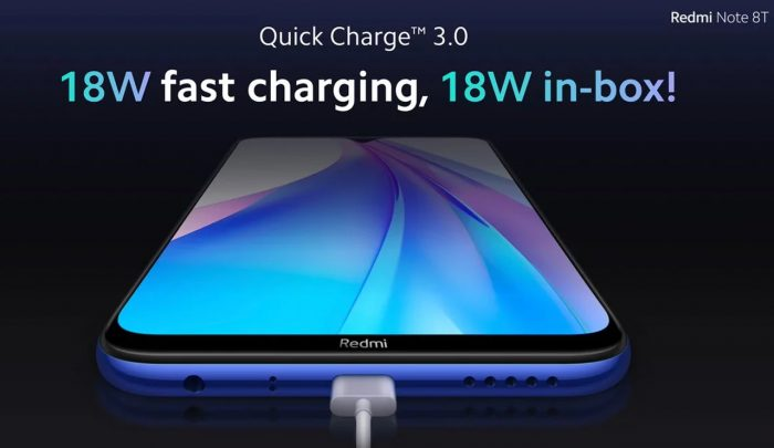Redmi Note 8T 18W Fast Charging