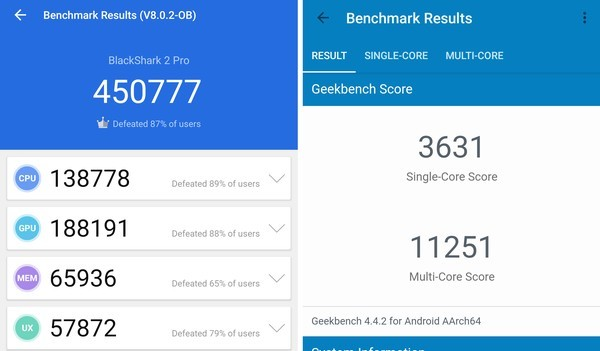 Review Black Shark 2 Pro AnTuTu Geekbench
