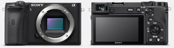 Sony a6600 Back Front