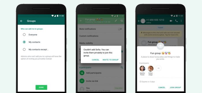 WhatsApp Tolak Undangan