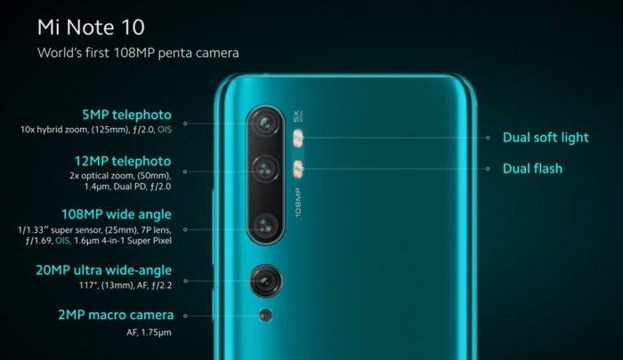 Xiaomi Mi Note 10 Penta Camera