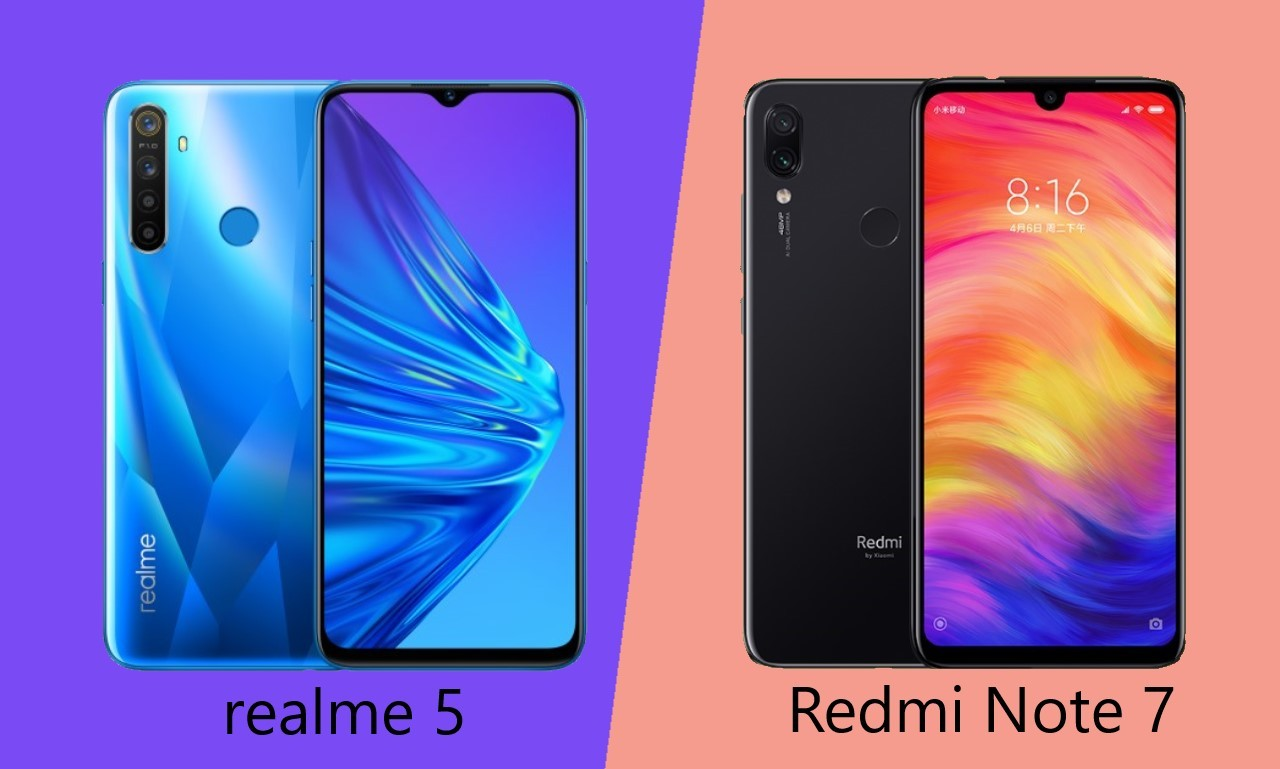 realme 5 VS Redmi Note 7 Header
