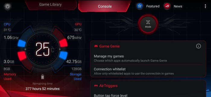 Review ROG Phone II Armoury Crate