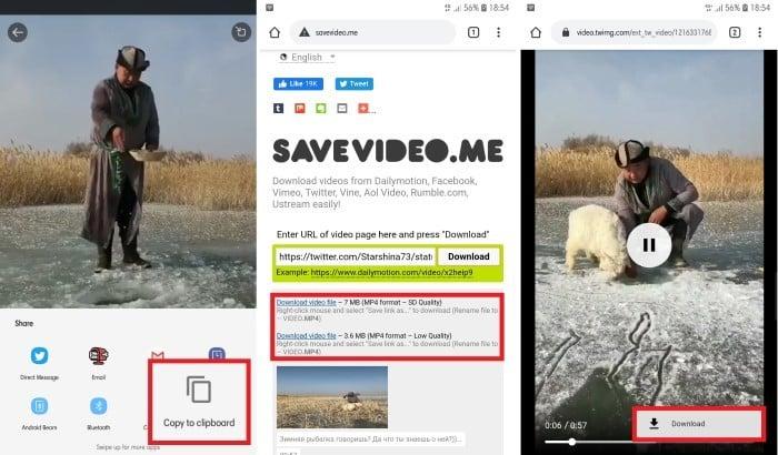 Cara Download Video Twitter di HP Copy URL