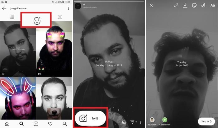 Cara Menggunakan Efek txt di Instagram