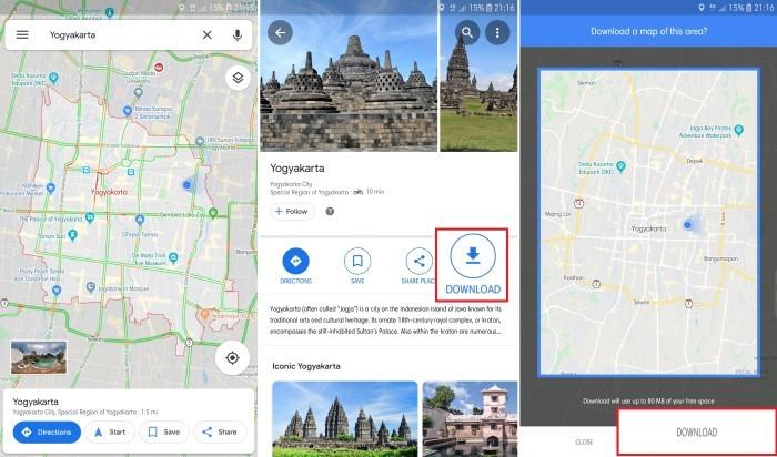 Google Maps Tanpa Internet 2