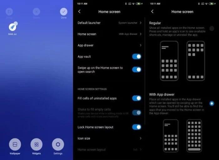 Aktifkan MIUI 11 AppDrawer
