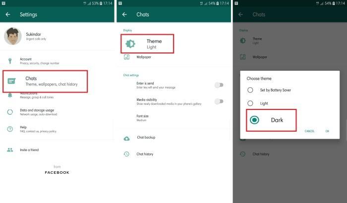 Mode Gelap WhatsApp