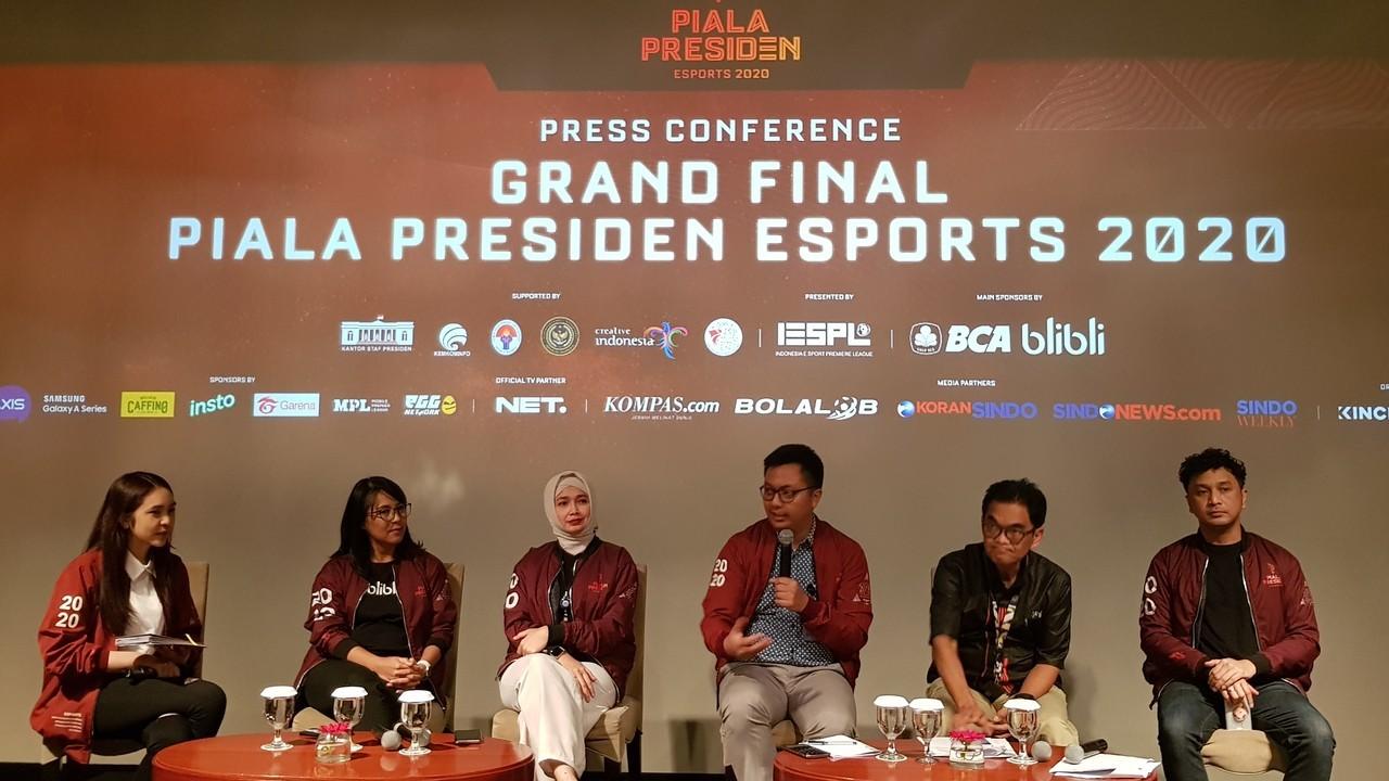 Press Conference Grand Final Piala Presiden Esport 2020