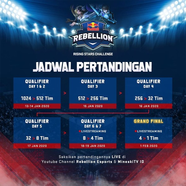 Red Bull Rebellion Jadwal Pertandingan
