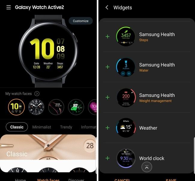 Samsung Galaxy Watch Active2 Watch Face