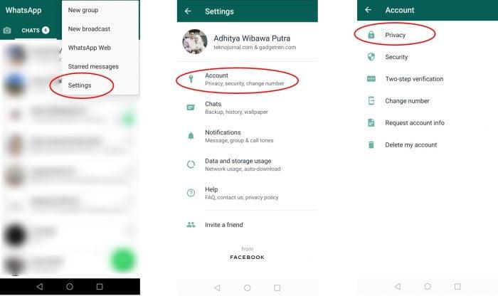 WhatsApp Delete Blockir contact