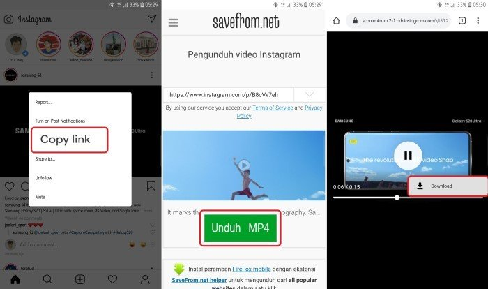 Cara Download Video Instagram menggunakan peramban
