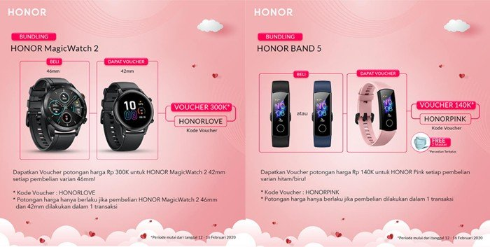 HONOR Magic Watch 2 Valentine