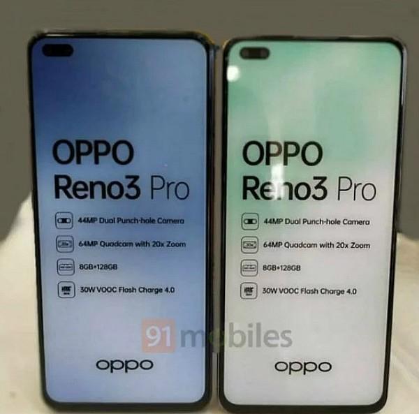 OPPO Reno3 4G India Leak