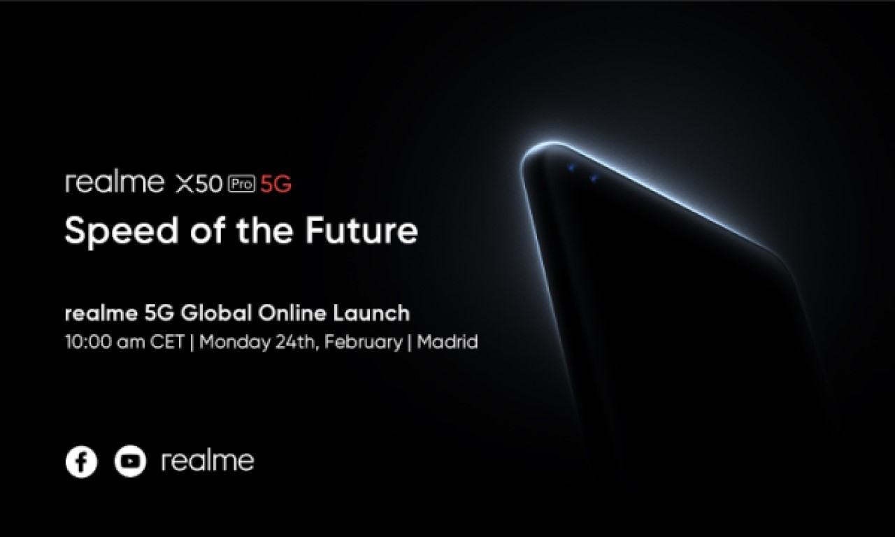 Poster Peluncuran realme X50 Pro 5G Header