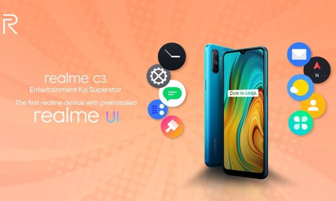 Realme C3 Dengan realme UI Header