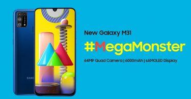 Samsung Galaxy M31 Official Header