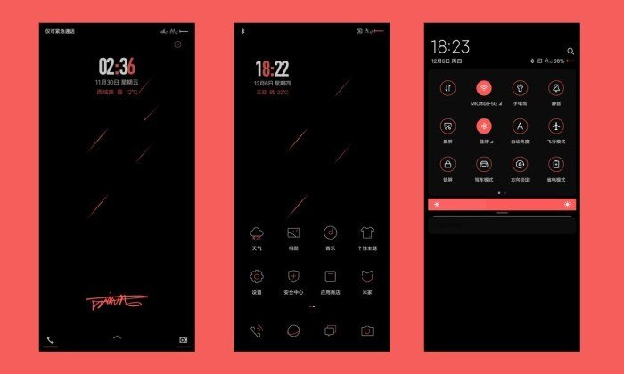 Tema MIUI 11 Keren - Red and Black Signature Custom