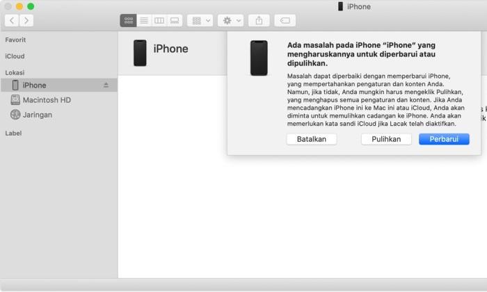 Cara Mengembalikan iPhone yang Terkunci iTunes