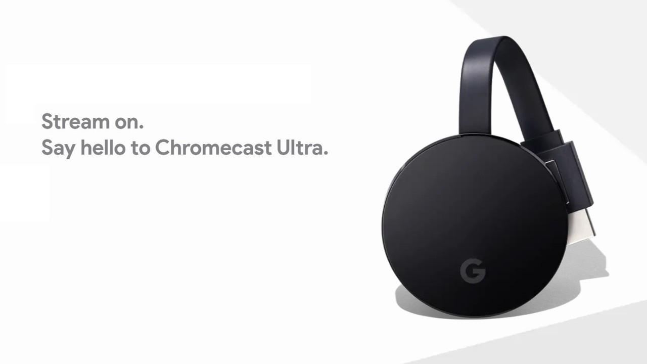 Chromecast Ultra Header