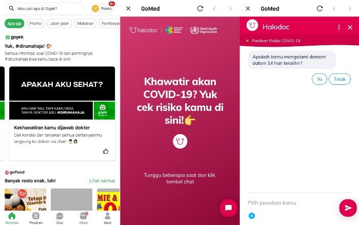 Recommended Method of Consultation COVID-19 Gojek and Halodoc
