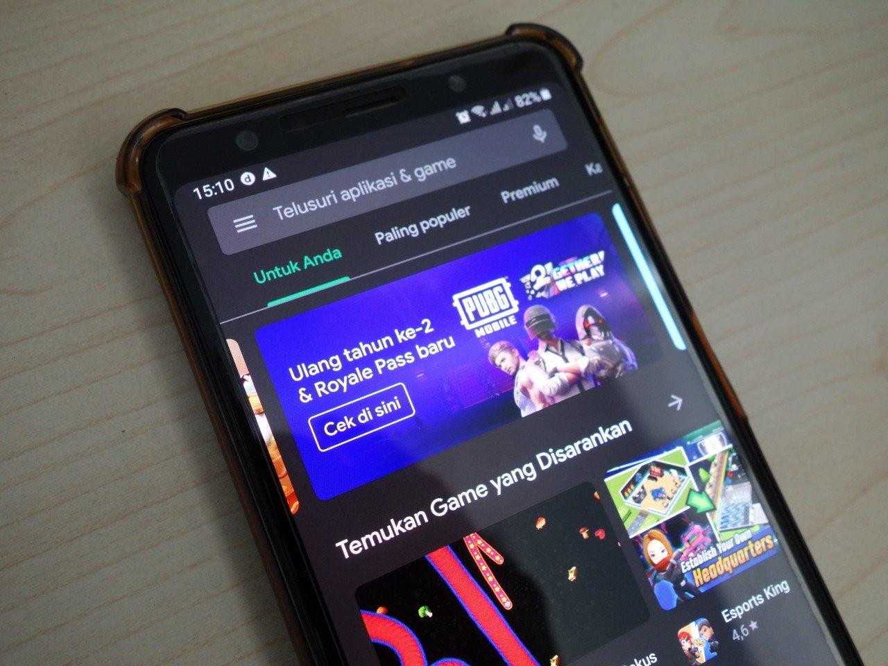Google Play Store Dark Mode