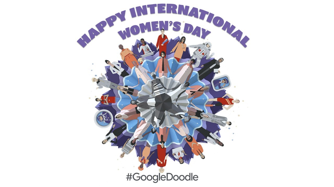 GoogleDoodle International Woman Day Header
