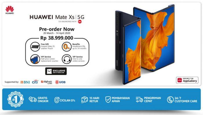 Poster Pre-order Huawei Mate XS Blibli