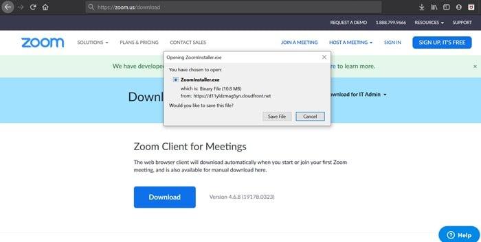 Zoom Installer