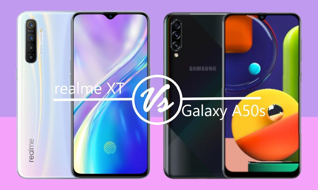 realme XT Vs Samsung Galaxy A50s Header