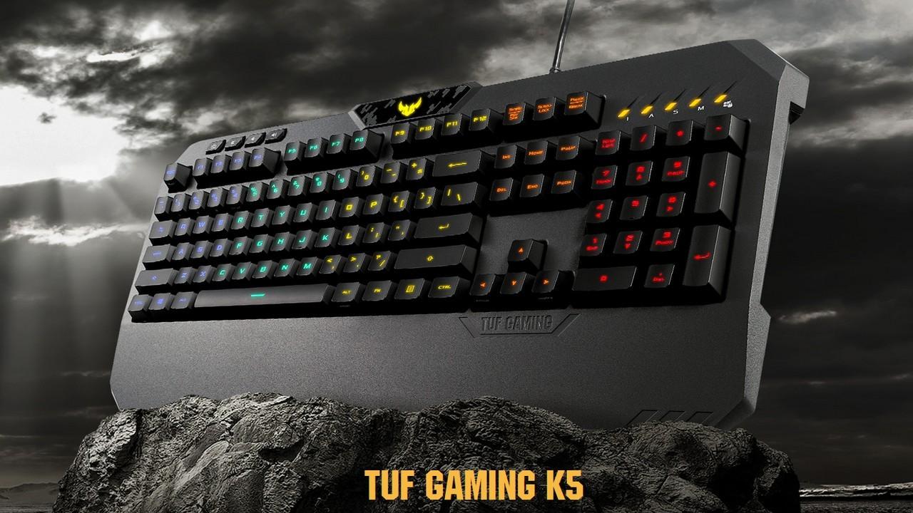 ASUS TUF Gaming K5 Keyboard Header