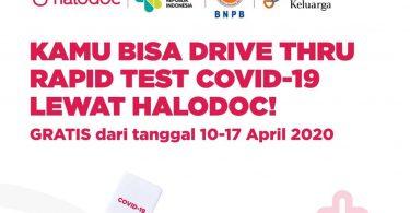 Cara Mengakses Drive Thru Rapid Test COVID-19