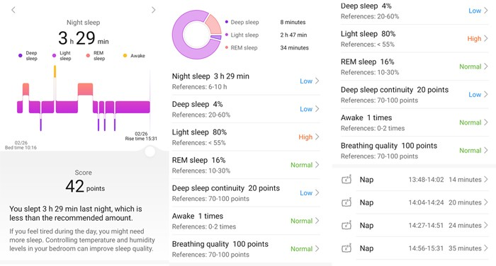 HUAWEI Health App Sleep Pattern