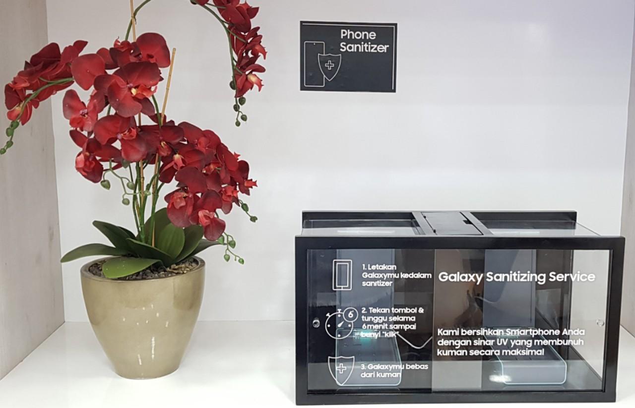 Samsung Galaxy Sanitizing Service Header