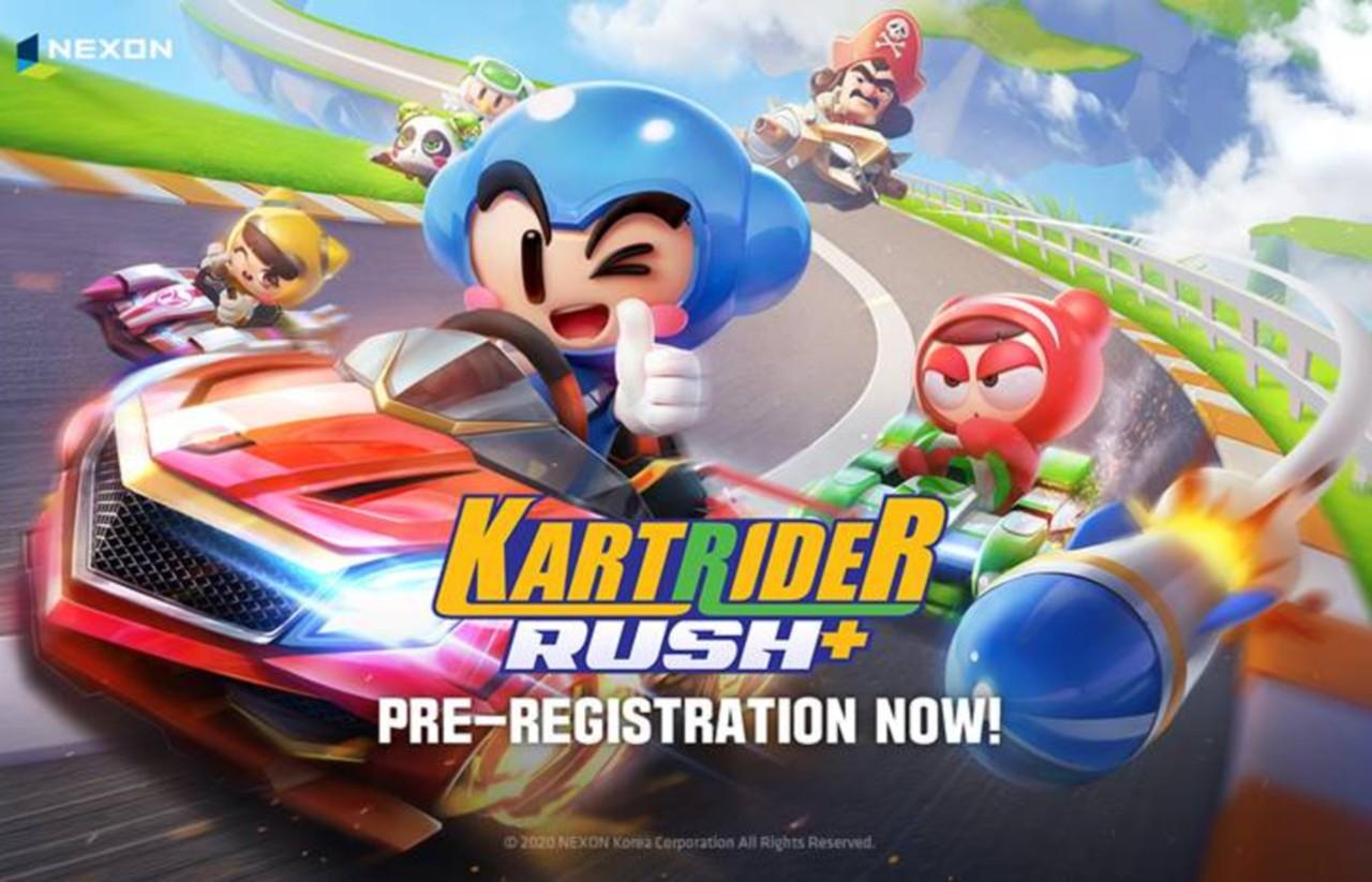 Kartrider Rush Mobile Game Pre-Register Header