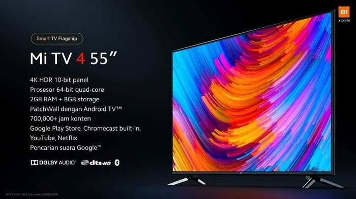 Mi TV4 55 inci spesifikasi