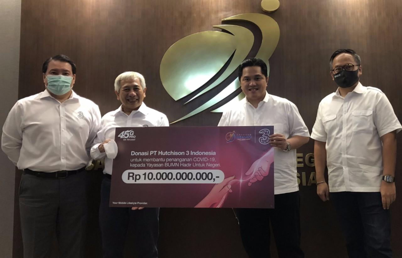 PT. Hutchison Tri Indonesia Donasi 10 Miliar Rupiah Header