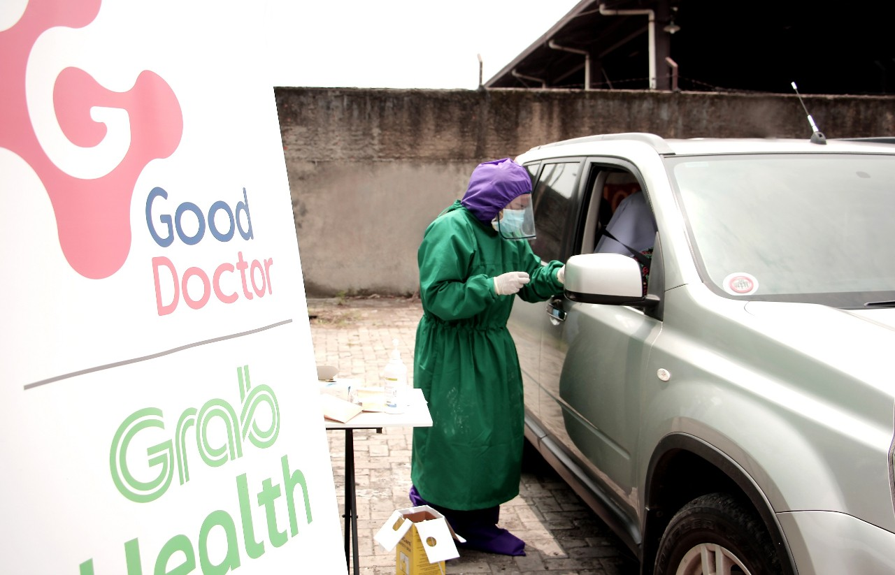 Rapid Test GrabHealth powered by by Good Doctor Header.