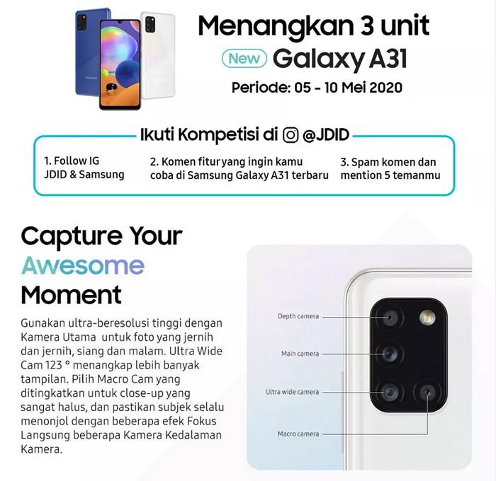 Samsung Galaxy A31 Lomba