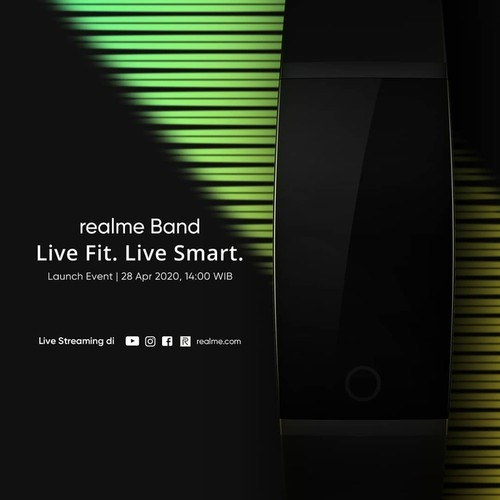 realme band launch poster