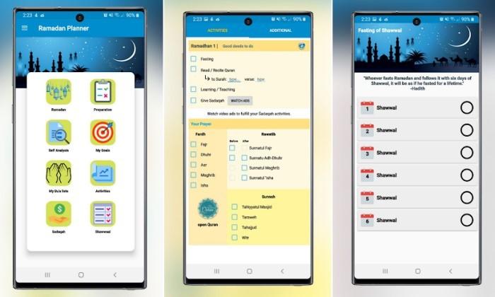 Aplikasi Jurnal Ramadhan - Ramadan Planner