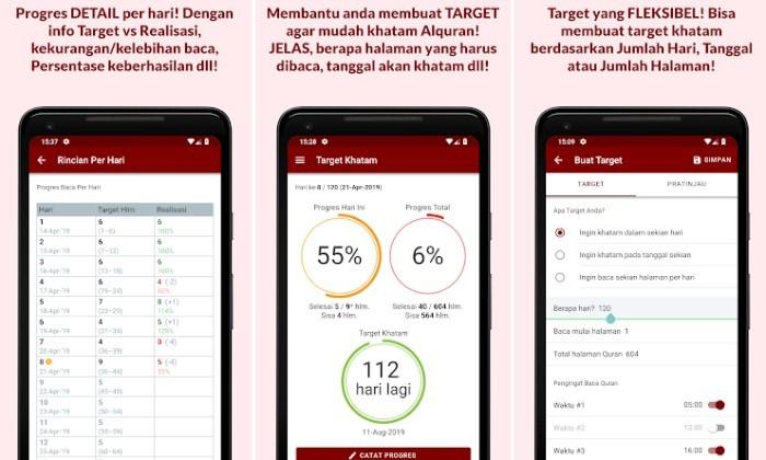 Aplikasi Jurnal Ramadhan - Target Khatam