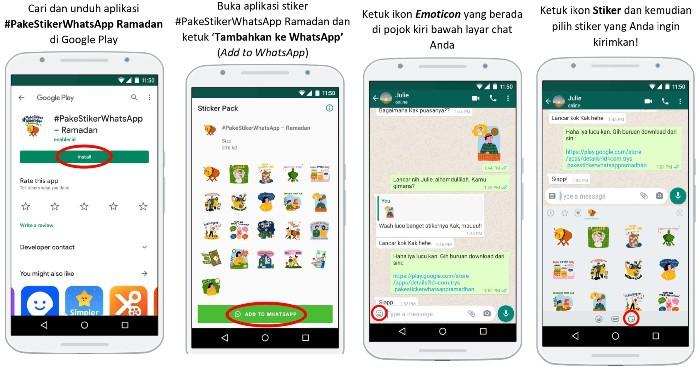 Cara Aktifkan Stiker Edisi Khusus Ramadan
