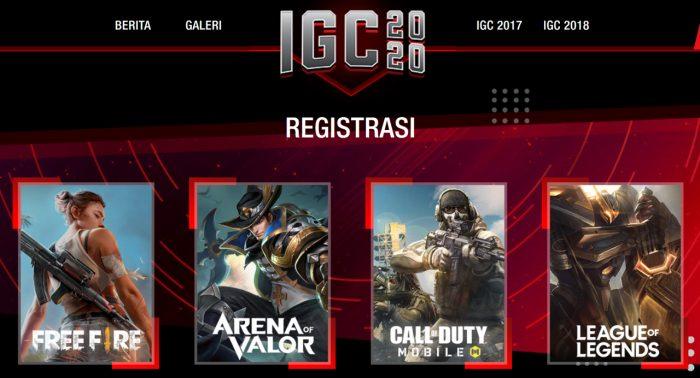 IGC 2020 registrasi