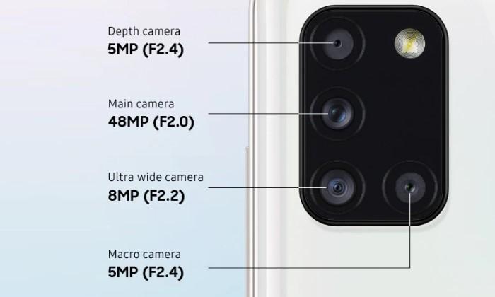 Kelebihan dan Kekurangan Samsung Galaxy A31 - Kamera