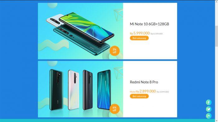 Xiaomi Mi Note 10 Diskon