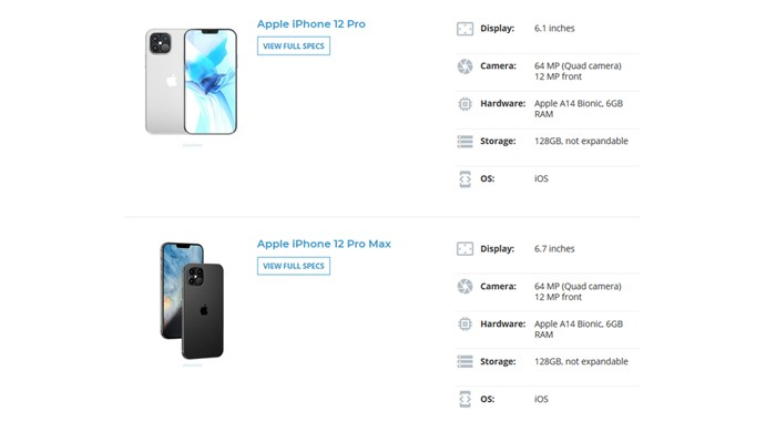 iPhone 12 Pro dan Pro Max